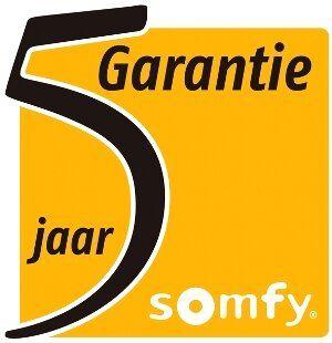5 jaar garantie Somfy